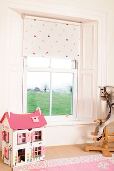find this pin and more on r nursery by jessicarestad flutterbyes raspberry blackout roller blind