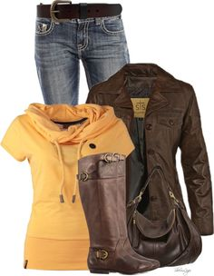 Scarf Collar T Shirt Casual Fall Outfit