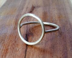Circle Ring. Sterling Silver Jewelry. Handmade. by Epheriell