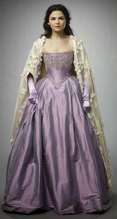 Snow White, purple gown