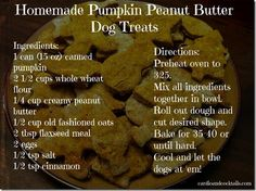 Homemade Pumpkin Peanut Butter Dog Treats!