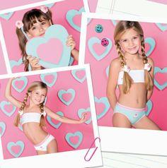 Art 8200 Pack por 3 bombacha niña algodón y lycra con aplique bordado. Talles: 1-2-3  Colores: varios.