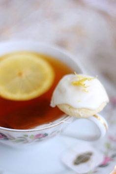 Lemon Goat Cheese Tea Cookies - I'm going to try making these with almond flour and Stevia for a lower carb alternative.