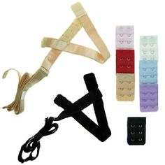 0e62ab5dc548d kilofly Low Back Bra Strap Converter Value Pack Set of 2 Black Beige 7 Bra  Back Extender 3 Rows x 2 Hooks -- Continue to the product at the image link.