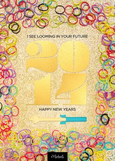 Happy New Years Printable for the Rainbow Loom enthusiast