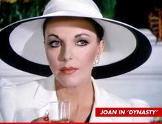 "Joan Collins as Alexis from the series ""Dynasty"": another eeevul businesswoman. Funnily enough I already had A.P. show up in a similar hat in a scene from DMS."