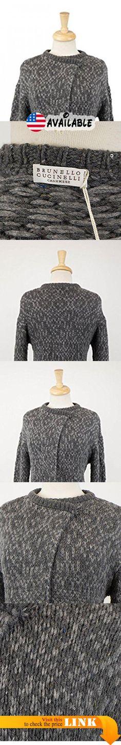 B01N1TSYLS : Brunello Cucinelli Gray Cashmere Blend Knit Sweater Cardigan Size Medium.