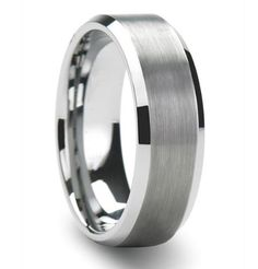 Mens 14K White Gold Wedding Band Ring 6MM Wide by TallieJewelry, $415.00