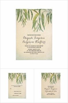 Gum Tree Leaves Rustic Wedding Collection