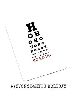 Merry Christmas to all the eyeballs out there! From Eyecon Optometry, Lynnwood. Merry Christmas To All, Christmas Shopping, Christmas Holidays, Christmas Cards, Optometry Humor, Optometry Office, Christmas Glasses, Christmas Window Display, Eye Chart