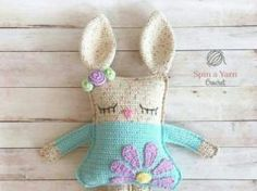 Pdf pattern ragdoll spring bunny crochet pattern the ragdoll spring bunny is a unique amigurumi made in the ragdoll style separate pieces worked in flat rows and joined together to give Crochet Gratis, Crochet Patterns Amigurumi, Cute Crochet, Crochet Dolls, Amigurumi Doll, Easter Bunny Crochet Pattern, Crochet Rabbit, Crochet Mignon, Crochet Patron