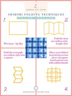 Eva Amurri shares a an easy Shibori Tie Dye How-To, including materials, what to dye, step by step instructions, and her favorite Shibori pieces. Diy Tie Dye Techniques, Shibori Techniques, Shibori Tie Dye, Cotton Crafts, Indigo Dye, Tye Dye, Step By Step Instructions, Tie Dye Heart, Indigo