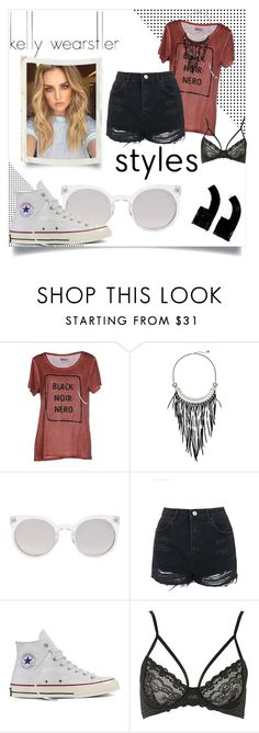 """""""Paparazzi"""" by fanficcreater ❤ liked on Polyvore featuring Kelly Wearstler, ONLY, The Sak, Kosha, Topshop and Converse"""