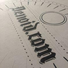 Logo in progress #2 #logo #design #sketch #vintage #graphics #type #art #handmade #illustration #graphicdesign