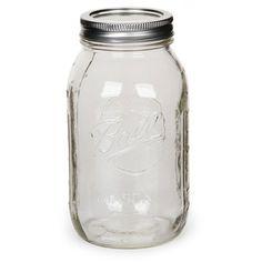 Bocal en verre Mason Jar Ball Pot Mason 32 oz / 960 ml - Pot Mason, Mason Jar Vases, Mason Jar Crafts, Ball Canning Jars, Ball Jars, Bulk Craft Supplies, Pot A Crayon, Classroom Decor Themes, Home Decor Vases