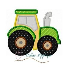 Tractor Applique - 3 Sizes!