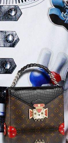 ♥ Louis Vuitton-Black Pochette Mask