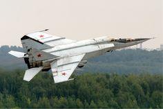 Mikoyan-Gurevich MiG-25 Foxbat, supersonic interceptor and reconnaissance aircraft. First flight 1964.