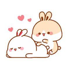 Lovely Tuji 4 Cute Bunny Cartoon, Cute Cartoon Images, Cute Love Pictures, Cute Love Gif, Cute Love Cartoons, Cute Cat Gif, Cute Cartoon Wallpapers, Cute Bear Drawings, Kawaii Drawings