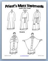 Learning About Priest Vestments {Free Printable e-book and Activity and coloring pages}   Catholic Inspired ~ Arts, Crafts, and Activities!