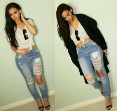 Ripped jeans..