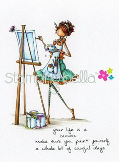 * Stamping Bella - Uptown Girls - Abigail the Artist PREORDER - Click Image to Close