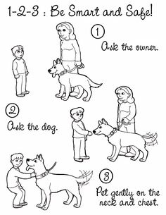 Dog safety colouring pages. Dogs for Defense K-9