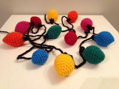 crochet light bulb garland <3 @pattie Jo forebears I found your craft!