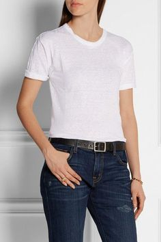 The white tee - no words, so easy but effortless too! Jeans Blancs D fdfbd85c4ce