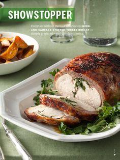 Citrus-Rubbed Turkey with Cider Gravy | Recipe | Gravy, Turkey and ...
