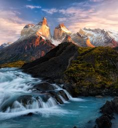 The Cascade Flow (Torres del Paine National Park) by Gregory Boratyn, via 500px