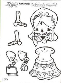Calaca niña para imprimir