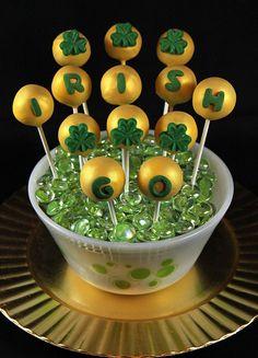 Go Irish Football Cake Pops by IrishMomLuvs2Bake, via Flickr