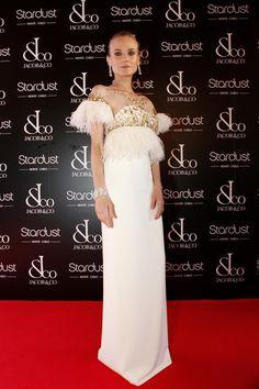 la modella mafia Diane Kruger red carpet fashion in a white Marchesa dress at the Jacob & Co Charity Gala July 2012 2