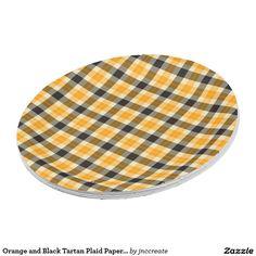 Orange and Black Tartan Plaid Paper Plates  sc 1 st  Pinterest & Olive Green and Black Tartan Plaid Paper Plates   Tartan plaid ...