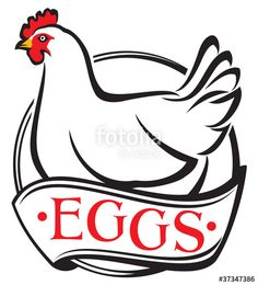 egg farm (chicken egg design, label) - Buy this stock illustration and explore similar illustrations at Adobe Stock Farm Chicken, Chicken Eggs, Chicken Clip Art, Egg Farm, Egg Designs, Adobe, Royalty, Label, Muscle