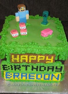 Minecraft TNT Birthday Cake This was a hit with all the 9 year