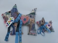Pin dogs which can be used as a pin cushion or for any sewing lover.