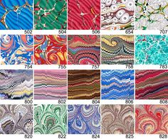 Source for Italian marbled paper. Gorgeous.