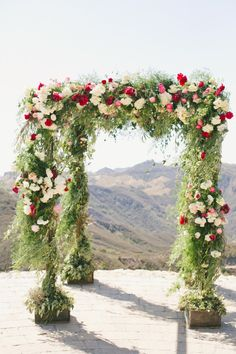 All we can say is incredible: http://www.stylemepretty.com/2015/04/03/red-pink-malibu-mountaintop-wedding/ | Photography: Onelove - http://www.onelove-photo.com/