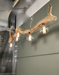 Ceiling lamp made of Old forest wood. Made by GBHNatureArt. More info ? Wach https://www.etsy.com/shop/GBHNatureArt?