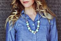 Handmade Bauble Necklace How-To - A Beautiful Mess #diy