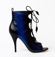 Nadia in Black/Blue Snake