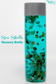 """Sensory bottles like this slow falling sea shells sensory bottle are commonly used to help calm an overwhelmed child, as a """"time out"""" timer, or as a meditation technique for children. They are just as effective for adults. Discovery bottles like this are"""