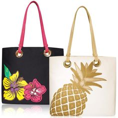 """Cabana Chic!Canvas tropical totes with leatherlike handles and polyester lining. Pack the tote for a beach day, a few hours by the pool, or just to run errands. A perfect grab-and-go bag!Introducing Signature Collection: Effortless style that's totally wearable. Pieces that flatter your shape and fit in comfortably with your lifestyle. That's the heart of Avon's Signature Collection. Designed by Avon. Inspired by you. Meet your new favorite label.FEATURES•13"""" H x 17"""" W (at w..."""