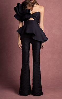 María de Mèdici Asymmetrical Peplum Top by JOHANNA ORTIZ Now Available on Moda Operandi