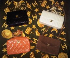 4x Chanel bags