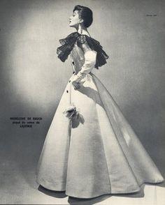 Madeleine de Rauch 1954 Georges Saad, Fashion Photography, Evening Gown  Photo  Georges Saad