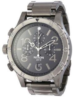 『ニクソン メンズ』Nixon Men's 48-20 クロノ Watch One サイズ ガンメタル 【レア 海外モデル 腕時計】【楽天市場】