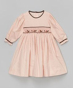 This Pink & Black Smocked Dress - Infant & Toddler by Fantaisie Kids is perfect! #zulilyfinds